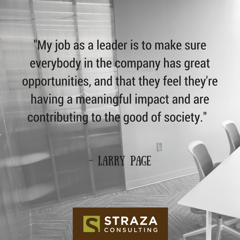 Quote from Google Founder Larry Page on his role as a leader